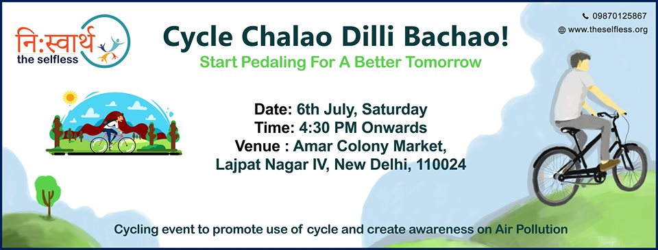 Cycle Chalao Delhi Bachao - Event Poster