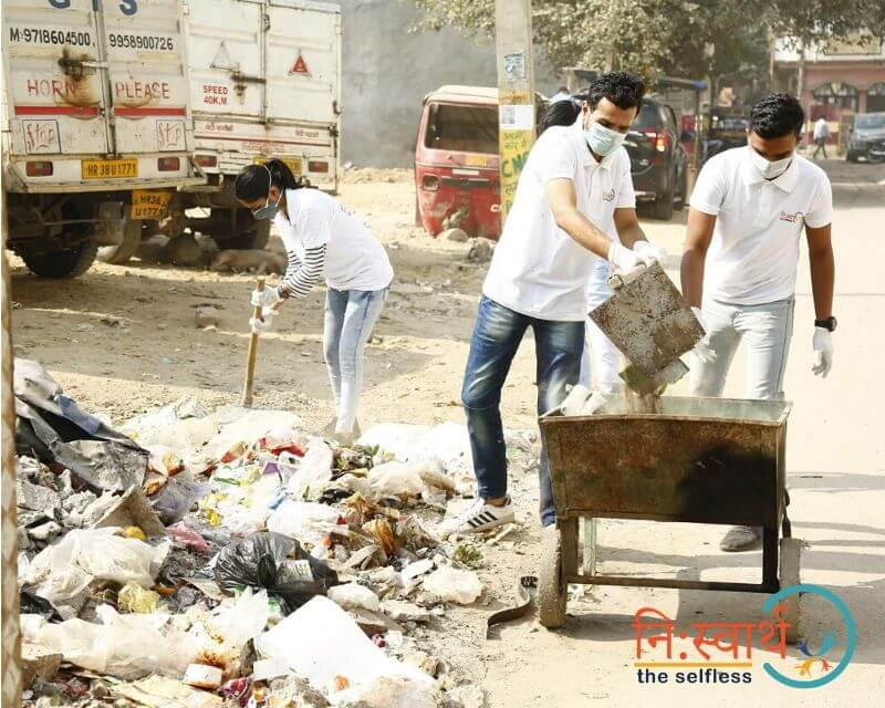 2 - Faridabad Cleanliness Drive - Niswarth The Selfless